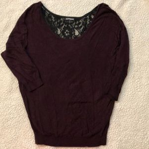 Express sweater with lace back